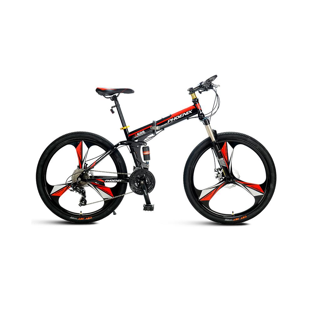 永久自行车2124速镁铝合金一体轮山地车2426寸山地自行车